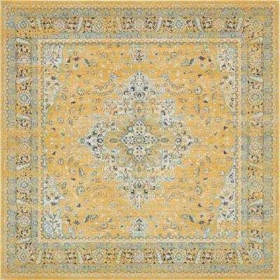 """Tradition Yellow 8'4"""" x 8'4"""" Square Rug"""