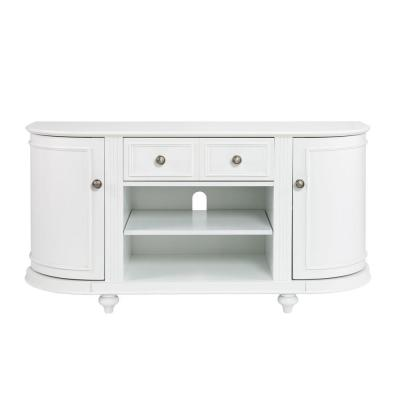 Houston 49 in. White Particle Board TV Stand with 4 Drawer Fits TVs Up to 46 in. with Adjustable Shelves