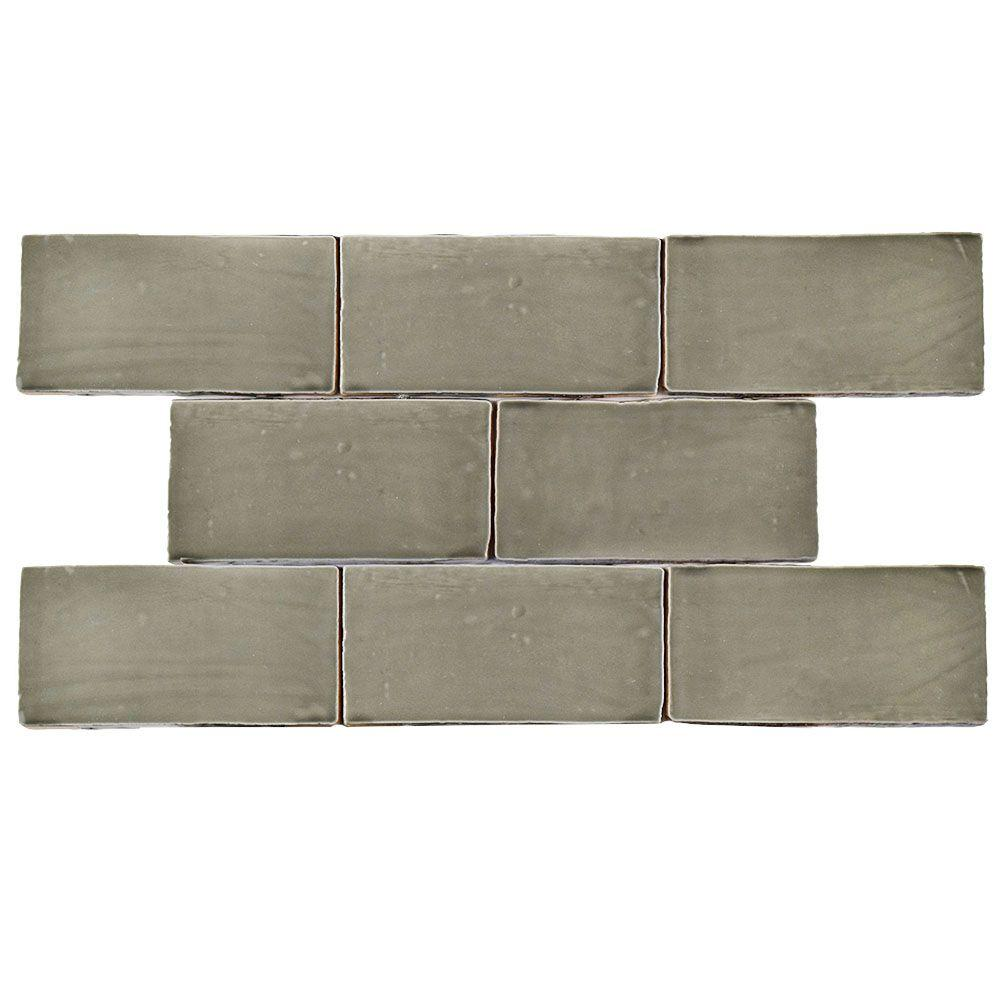 Merola tile chester grey 3 in x 6 in ceramic wall tile 1 sq ft merola tile chester grey 3 in x 6 in ceramic wall tile 1 dailygadgetfo Gallery