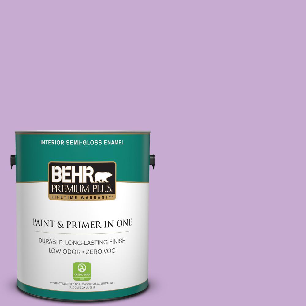 BEHR Premium Plus 1-gal. #660B-4 Pale Orchid Zero VOC Semi-Gloss Enamel Interior Paint