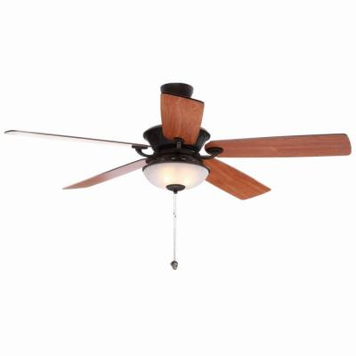Leland II 52 in. Indoor Oil Bronze Gold Ceiling Fan with Light Kit