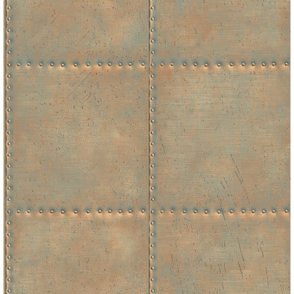 Hale Gold Sheet Metal Wallpaper