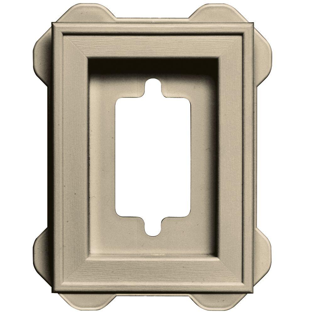 4.5 in. x 6.3125 in. #049 Almond Recessed Mini Mounting Block