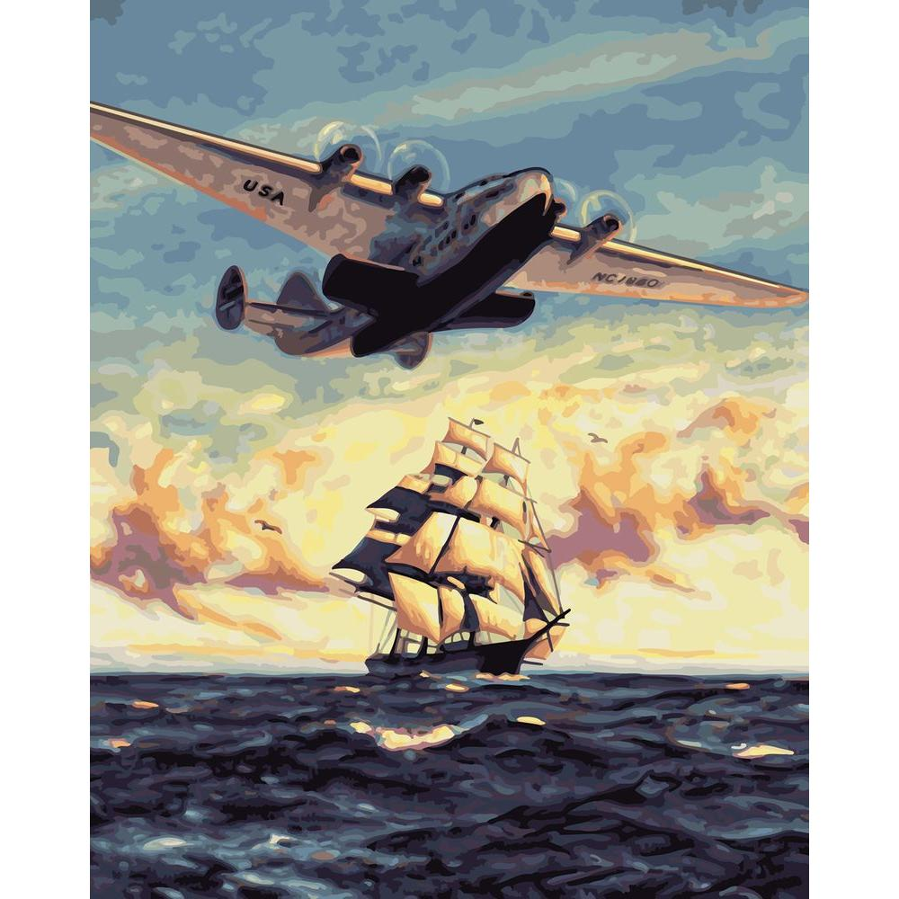 Plaid Paint by Number 16 in. x 20 in. 30-Color Kit Boeing Model Paint by Number