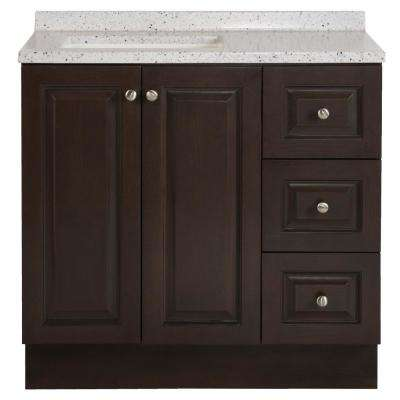 Northwood 36 In W X 19 D Bathroom Vanity Dusk With Solid