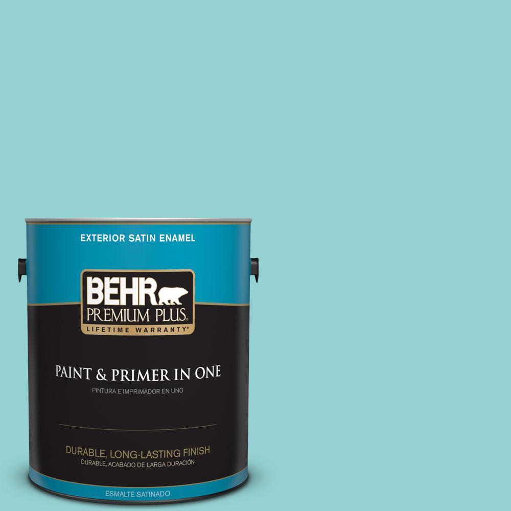 BEHR Premium Plus 1-gal. #M460-3 Big Surf Satin Enamel Exterior Paint