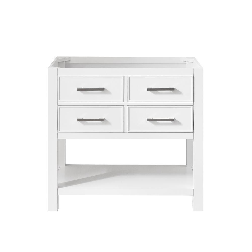 Brooks 36 in. W x 21.5 in. D x 34 in. H Vanity Cabinet in White