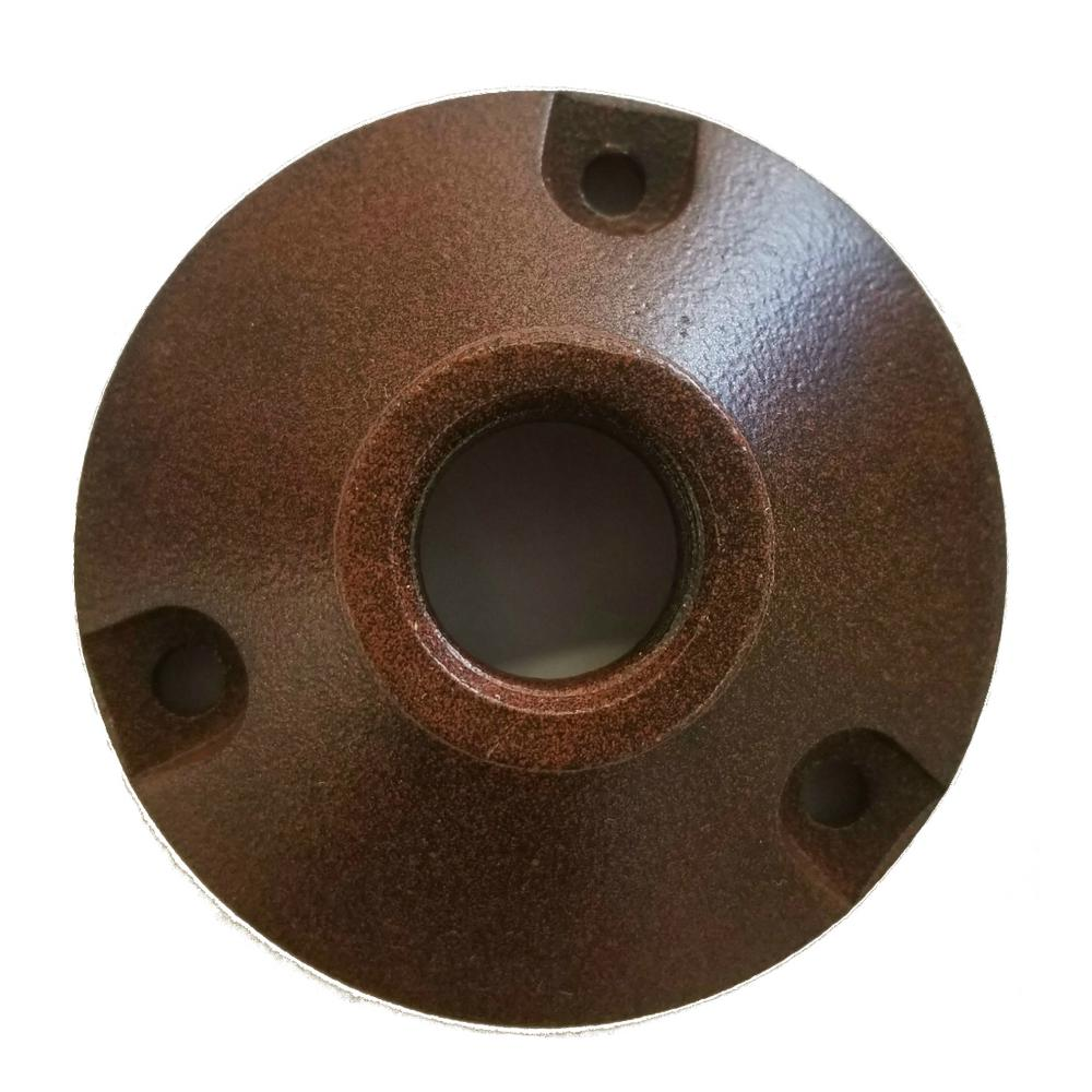 Nice Round Base Mounting Bracket For Low Voltage Outdoor Landscape Lighting  Fixtures In Rust