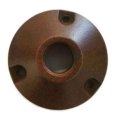 Round Base Mounting Bracket for Low Voltage Outdoor Landscape Lighting Fixtures In Rust