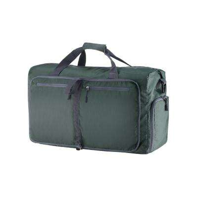 14.5 in. Green Folding Overnight Duffel Bag