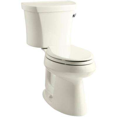 Highline 14 in. Rough-In 2-piece 1.28 GPF Single Flush Elongated Toilet in Biscuit, Seat Not Included