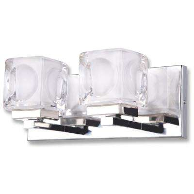Nevada 2-Light Chrome Bath Light