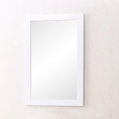 Medium Rectangle White Contemporary Mirror (32 in. H x 22 in. W)
