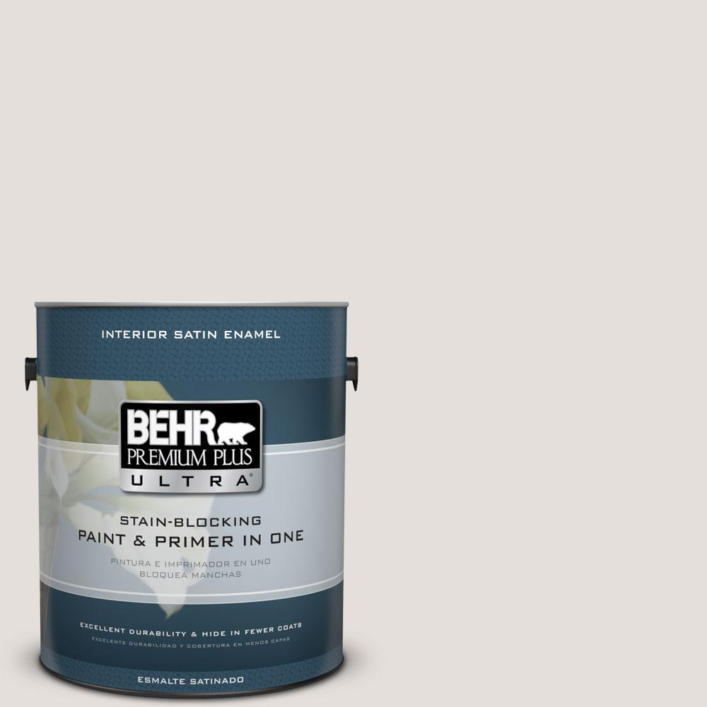 BEHR Premium Plus Ultra Home Decorators Collection 1-gal. #HDC-CT-17 Pale Starlet Satin Enamel Interior Paint