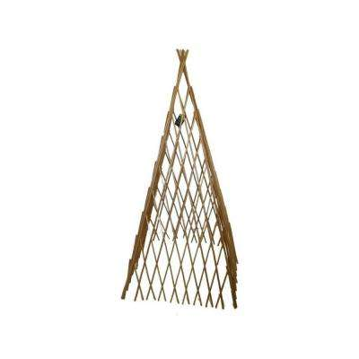 14 in. W x 72 in. H Classic Willow Expandable Trellis Teepee