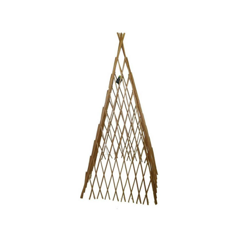 14 in w x 72 in h classic willow expandable trellis teepee wt