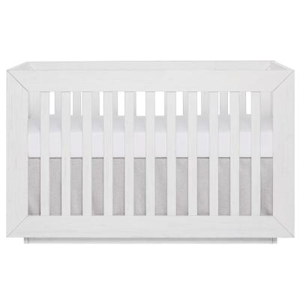 Maddox Modern Weathered White Convertible Crib