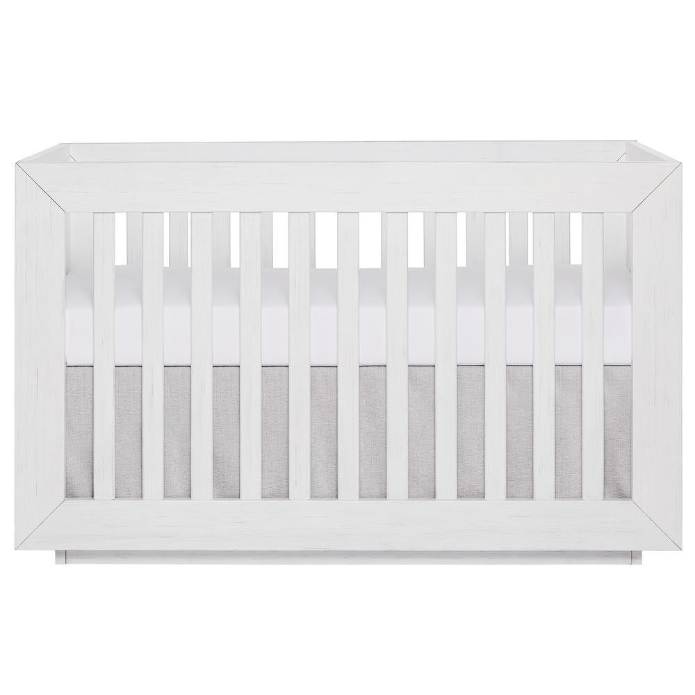 Evolur Maddox Modern Weathered White Convertible Crib 855-WW