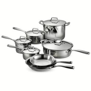 Tramontina Gourmet Prima 12-Piece Stainless Steel Cookware Set with Lids by Tramontina