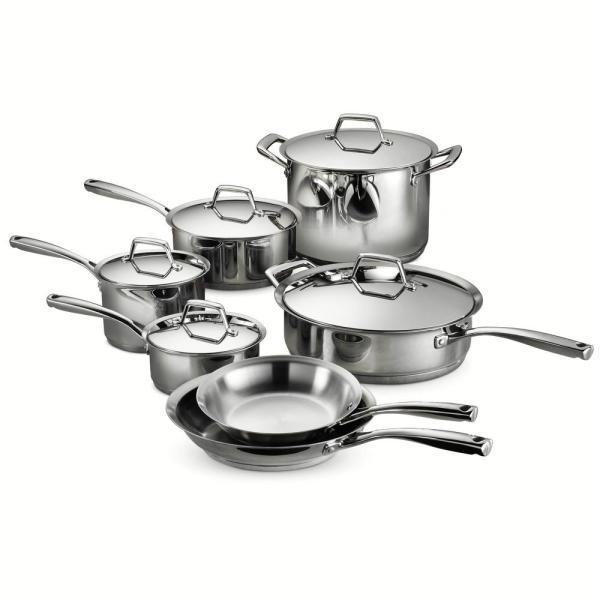 Tramontina Gourmet Prima 12-Piece Stainless Steel Cookware Set with Lids