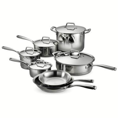 Gourmet Prima 12-Piece Stainless Steel Cookware Set with Lids