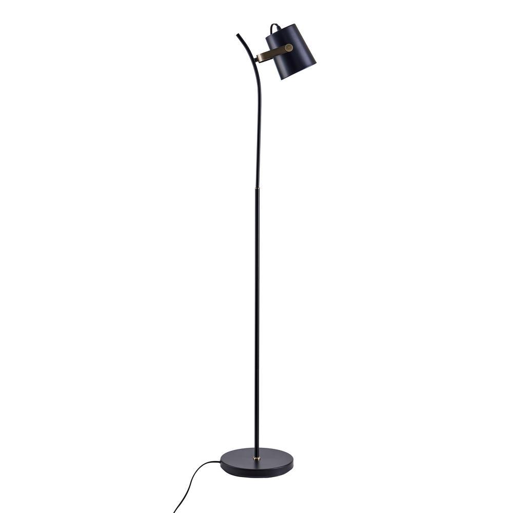 Ottena 60.25 in. Black Floor Lamp