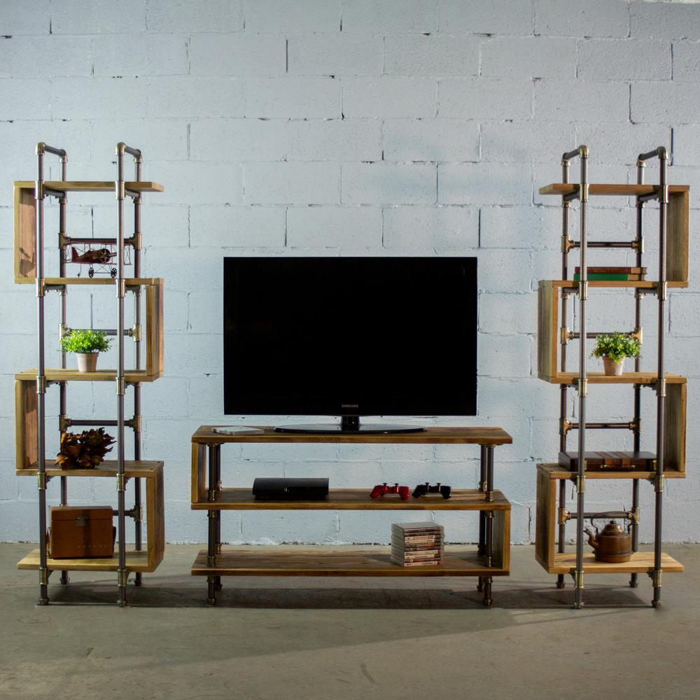 Furniture Pipeline Tucson Modern Industrial Natural Tv Media Stand
