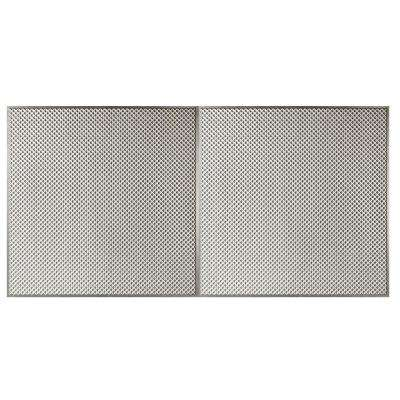 Kingsbridge 2 ft. x 4 ft. Lay-in or Glue-Up Border Ceiling Tile in Antique Silver (80 sq. ft. / Case)