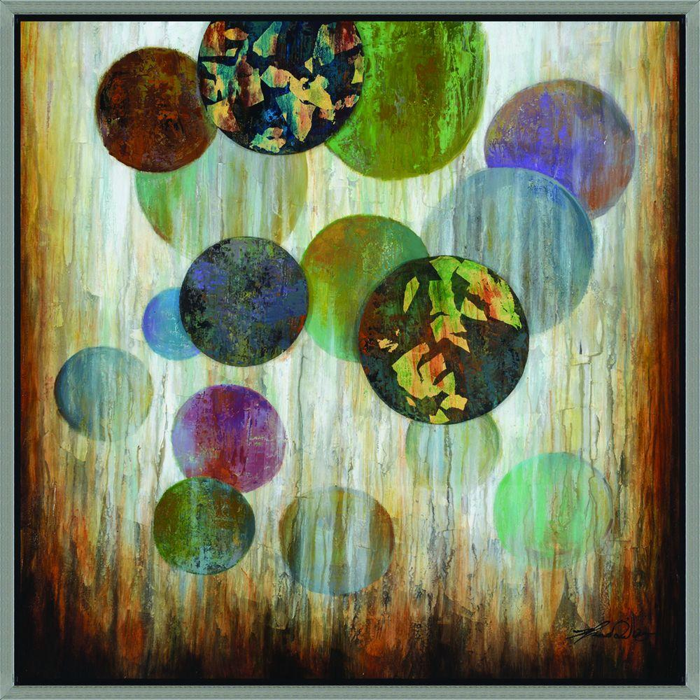 Yosemite Home Decor 40 in. x 40 in. Marbles Hand Painted Contemporary Artwork