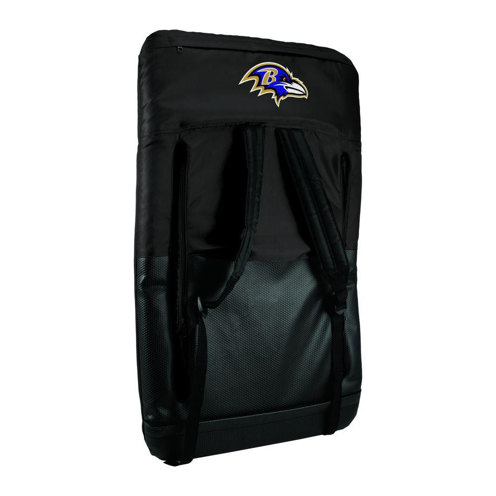 Ventura Baltimore Ravens Black Patio Sports Chair with Digital Logo