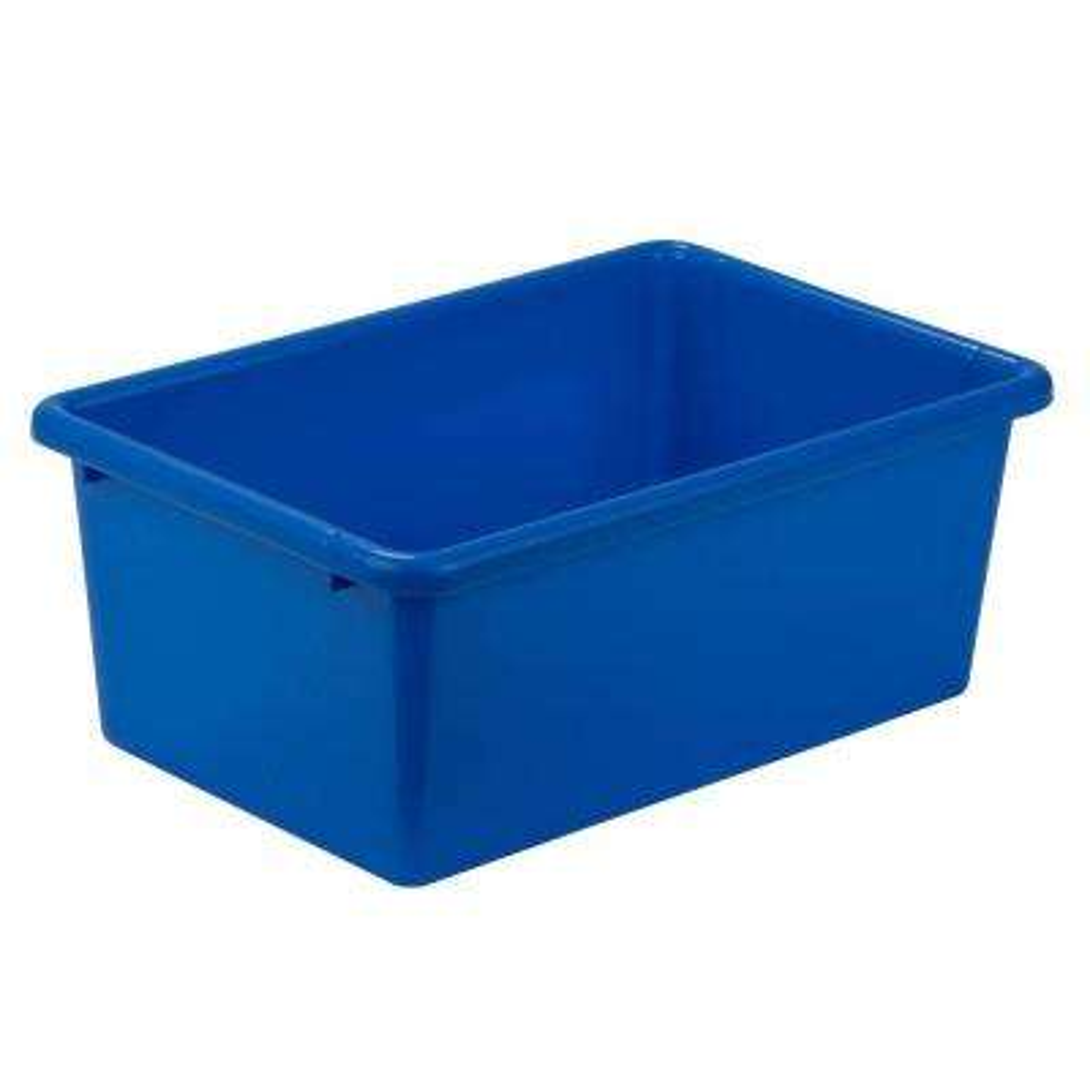 Blue Storage Bins Totes Storage Organization The Home Depot