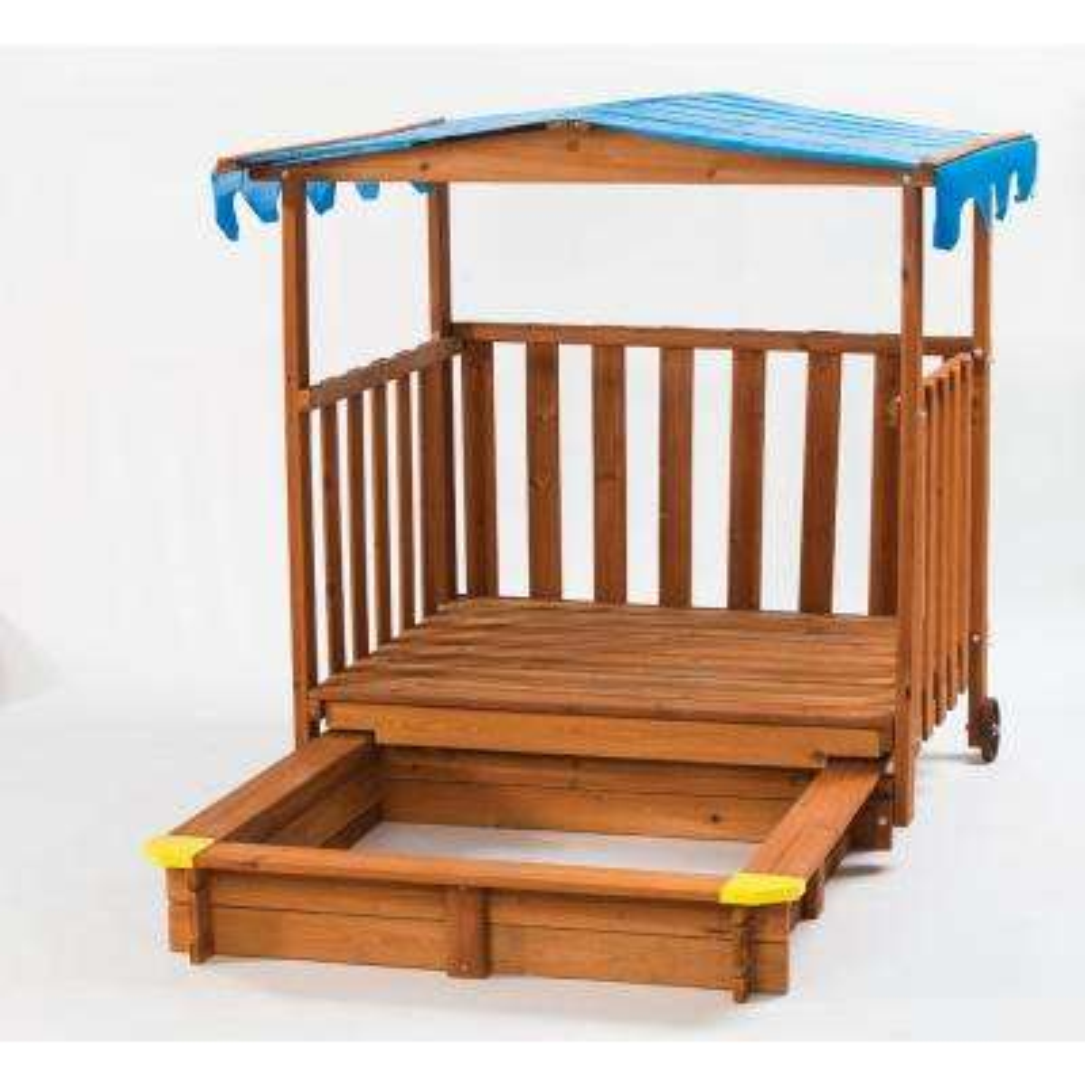 Sand N Shade Outdoor Playhouse and Sandbox