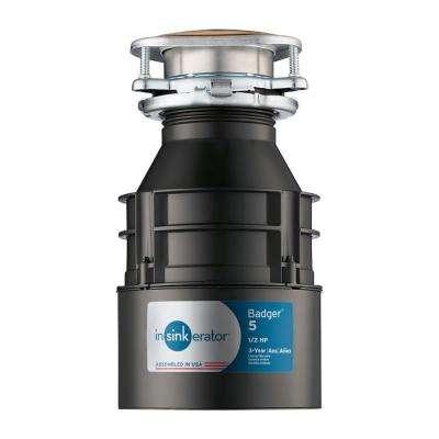 1/2 HP Badger 5 Continuous Feed Garbage Disposal