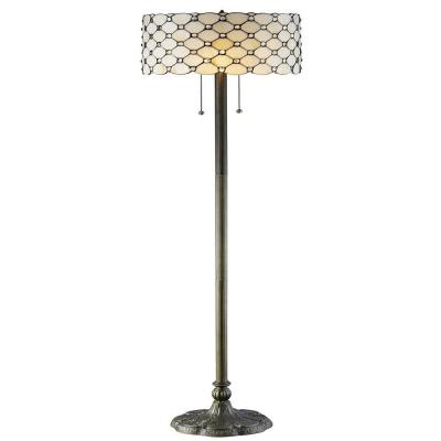 Tiffany Jeweled 60 in. Bronze Floor Lamp