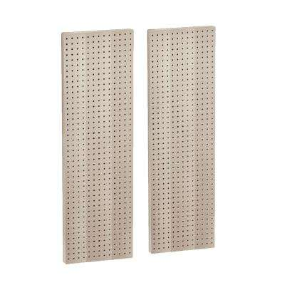 44 in. H x 13.5 in. W Almond Styrene Pegboard with One Sided Panel (2-Pieces per Box)