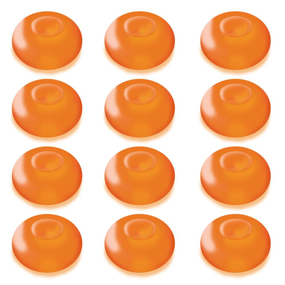 Lumabase 1.25 in. D x 0.875 in. H x 1.25 in. W Orange Floating Blimp Lights (12-Count)