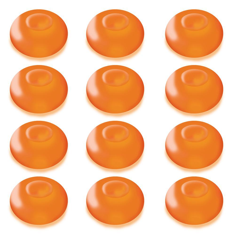 1.25 in. D x 0.875 in. H x 1.25 in. W Orange Floating Blimp Lights (12-Count)