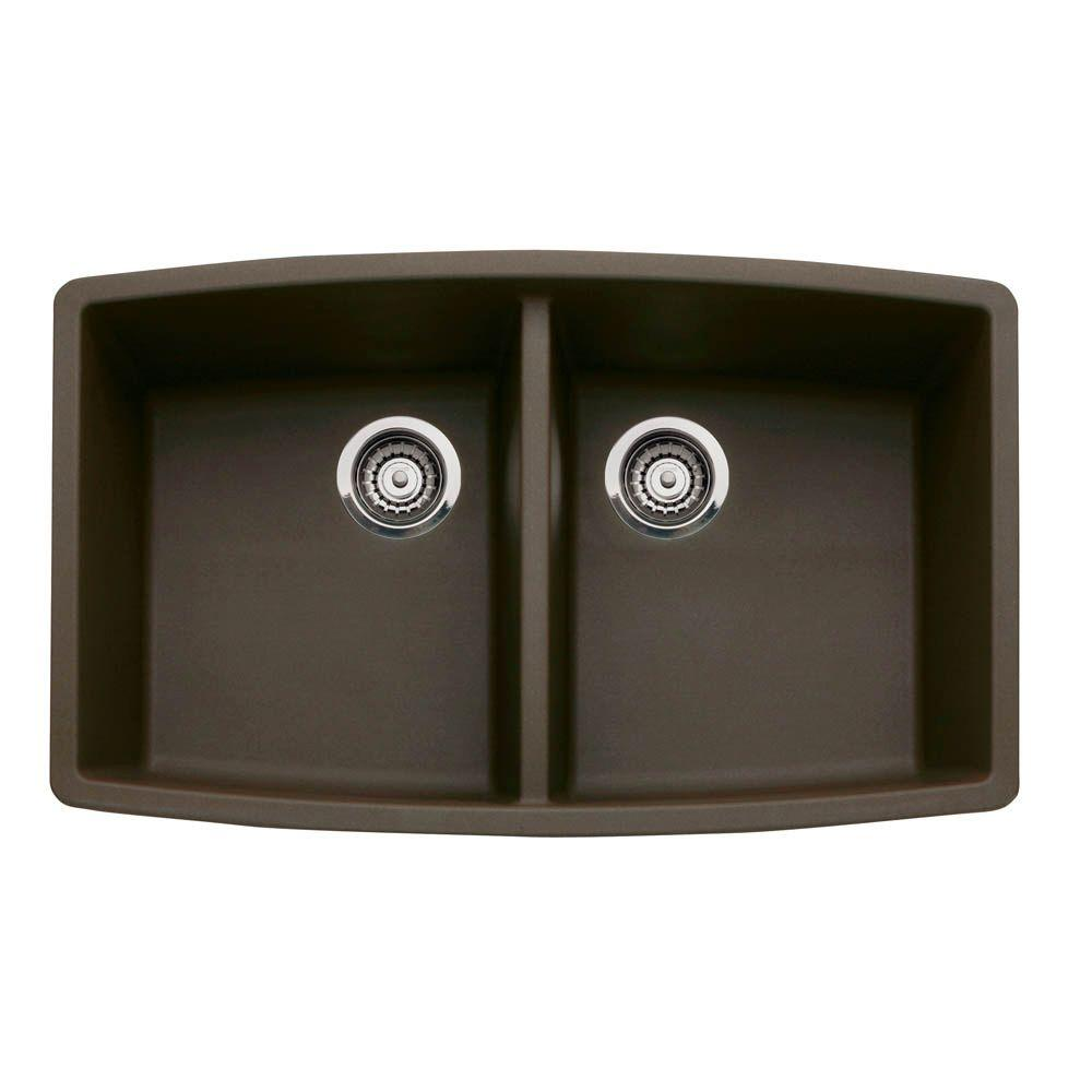 brown composite kitchen sink blanco performa undermount granite composite 33 in 4936