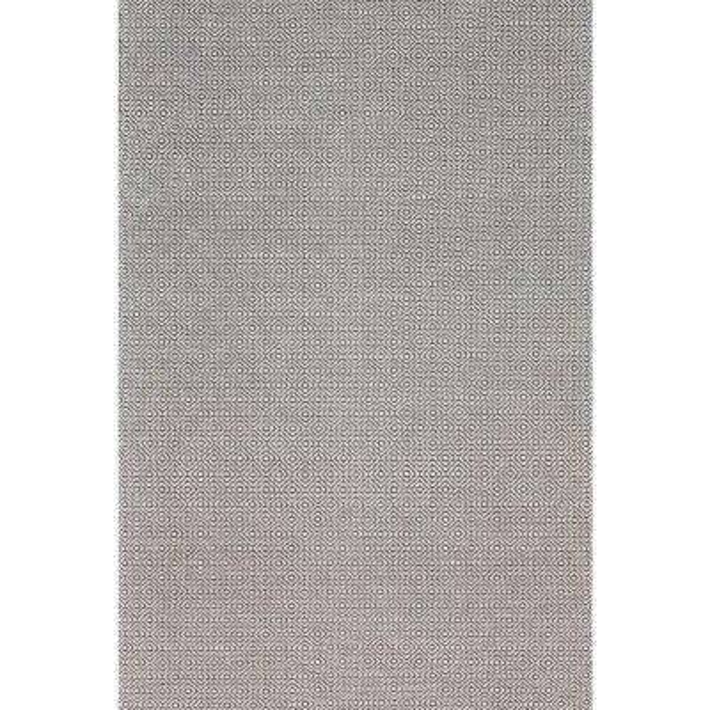 Diamond Cotton Check Grey 9 ft. x 12 ft. Area Rug