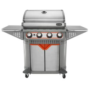 STOK Quattro 4-Burner Propane Gas Grill in Stainless Steel with Insert System by STOK