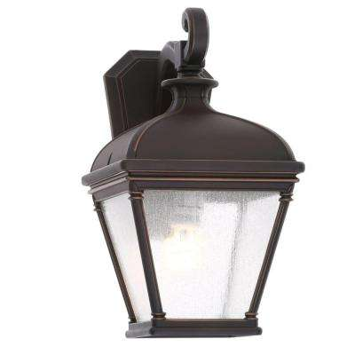 Malford Dark Rubbed Bronze Outdoor Wall Mount Lantern
