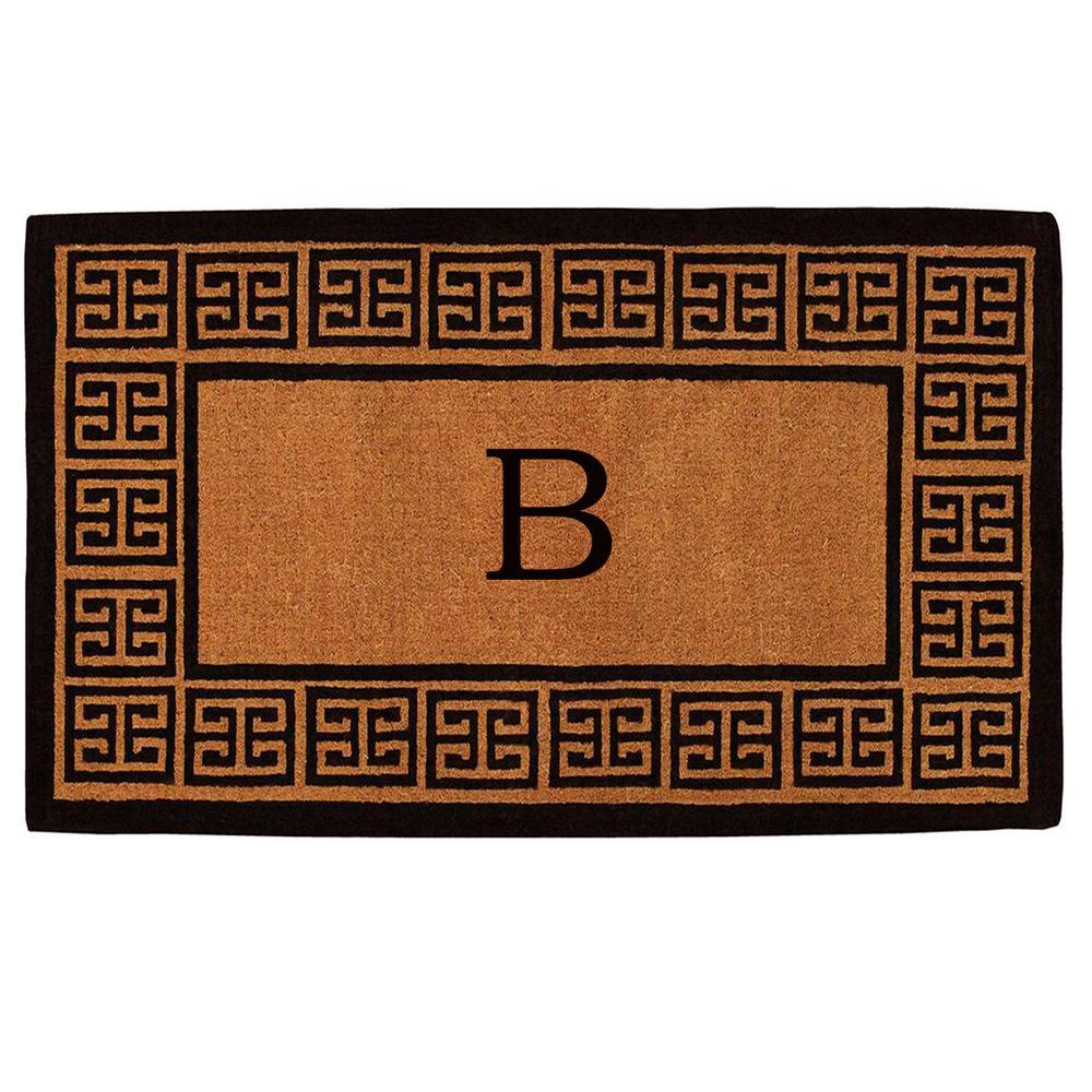 The Grecian Extra-Thick 18 in. x 30 in. Monogram B Door Mat