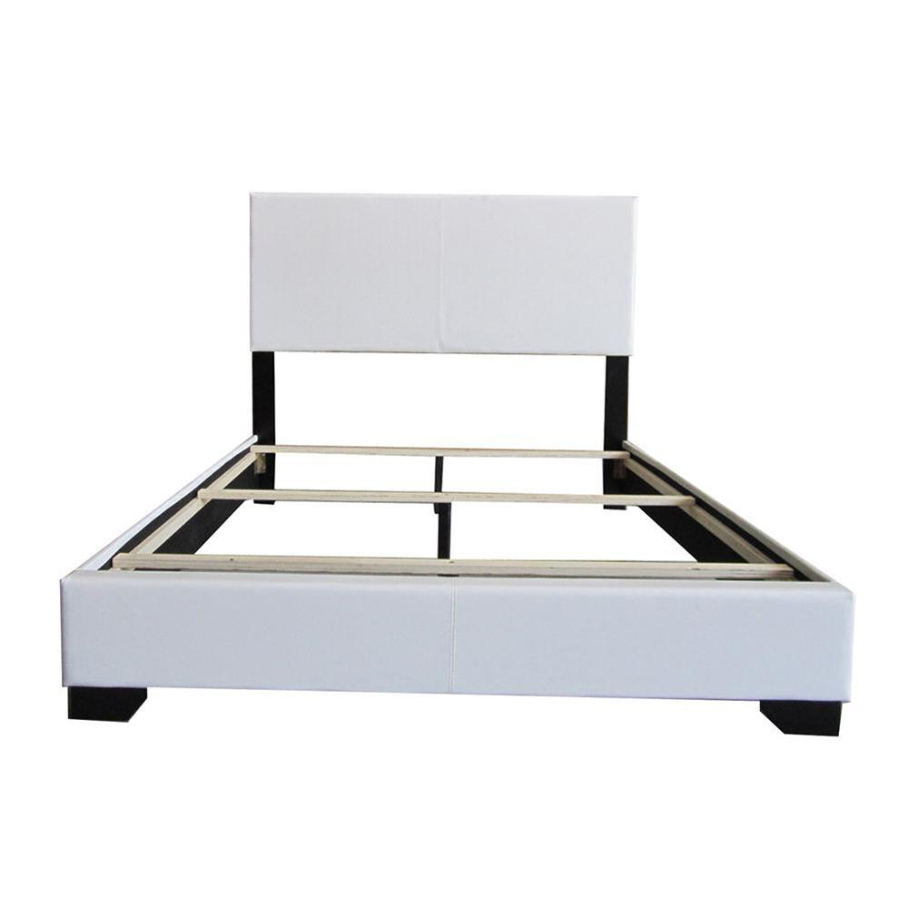 ACME Ireland White Eastern King Upholstered Bed