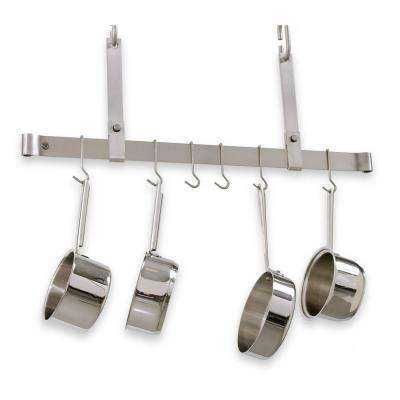 48 in. Adjustable Ceiling Bar Rack in Stainless Steel