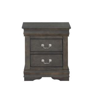 Louis Philippe Dark Gray Nightstand