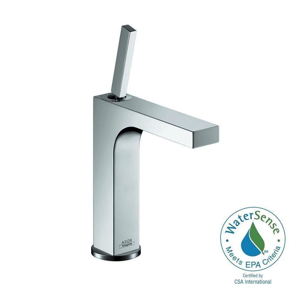 Axor Citterio Single Hole 1-Handle Bathroom Faucet in Chrome