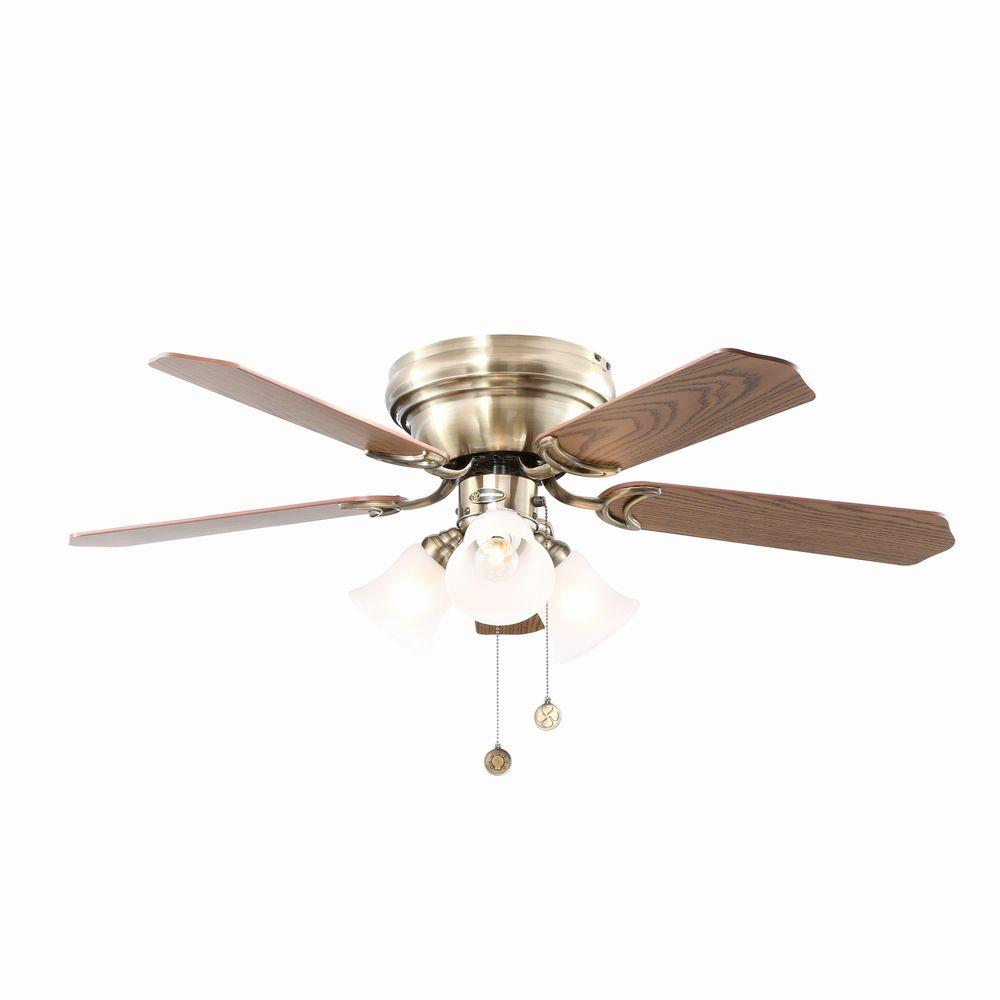 Westinghouse Contempra Trio 42 in. Antique Brass Ceiling Fan