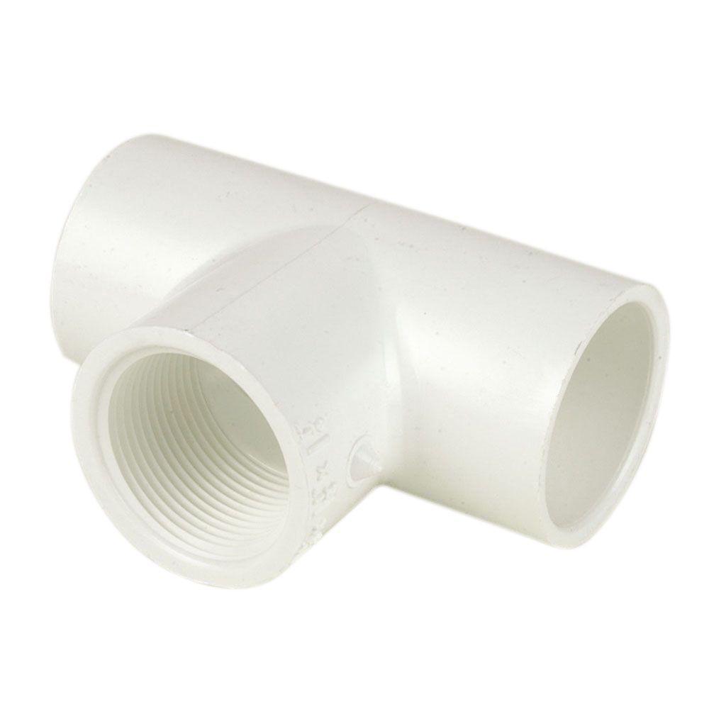 DURA 1/2 in. x 1/2 in. x 1/2 in. Sch. 40 PVC S x S x FIPT Tee (10-Pack)