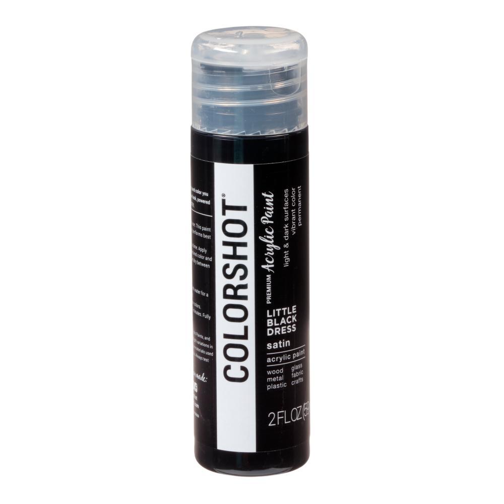 COLORSHOT 2 oz. Little Black Dress Black Craft Paint