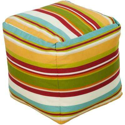 Canistien Accent Pouf in Red